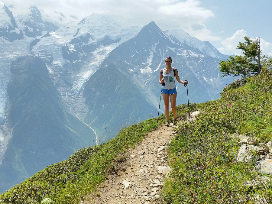 trekking, walking, hiking in chamonix brevent
