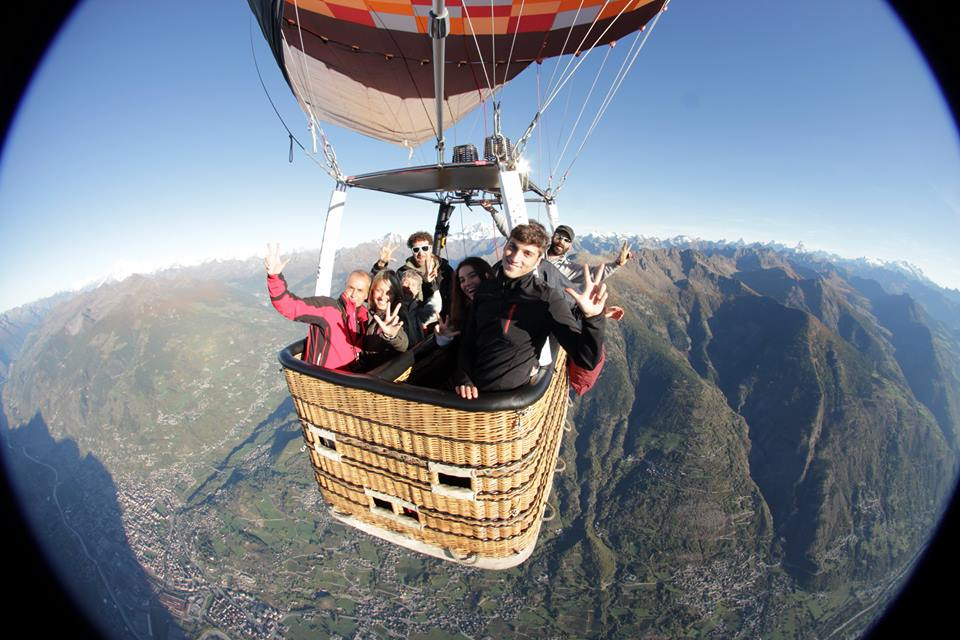 hot air ballon aosta courmayeur cervinia private