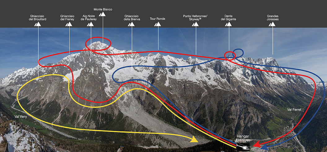 helicopter flight panoramic courmayeur mont blanc