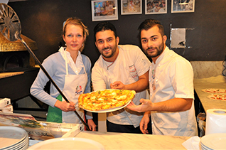 pizza cooking class in courmayeur chamonix