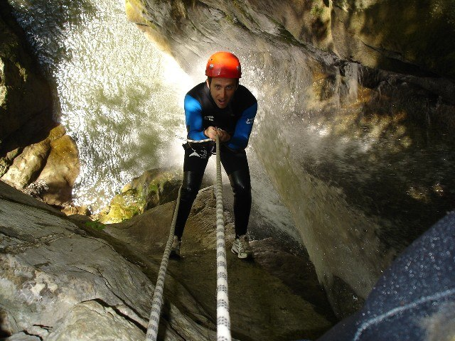 canyoning with alpina tour in aosta valley