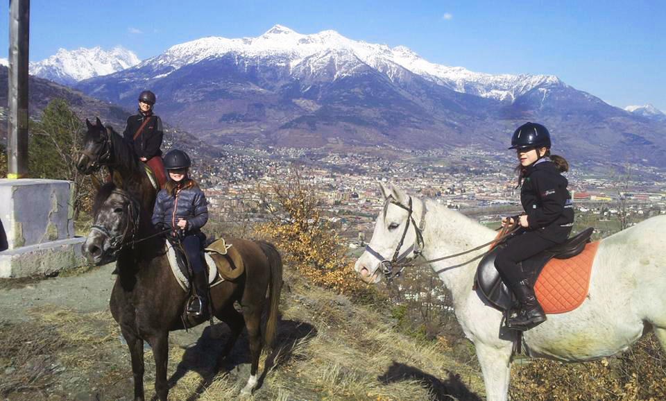 horse ride in Aosta and Chamonix