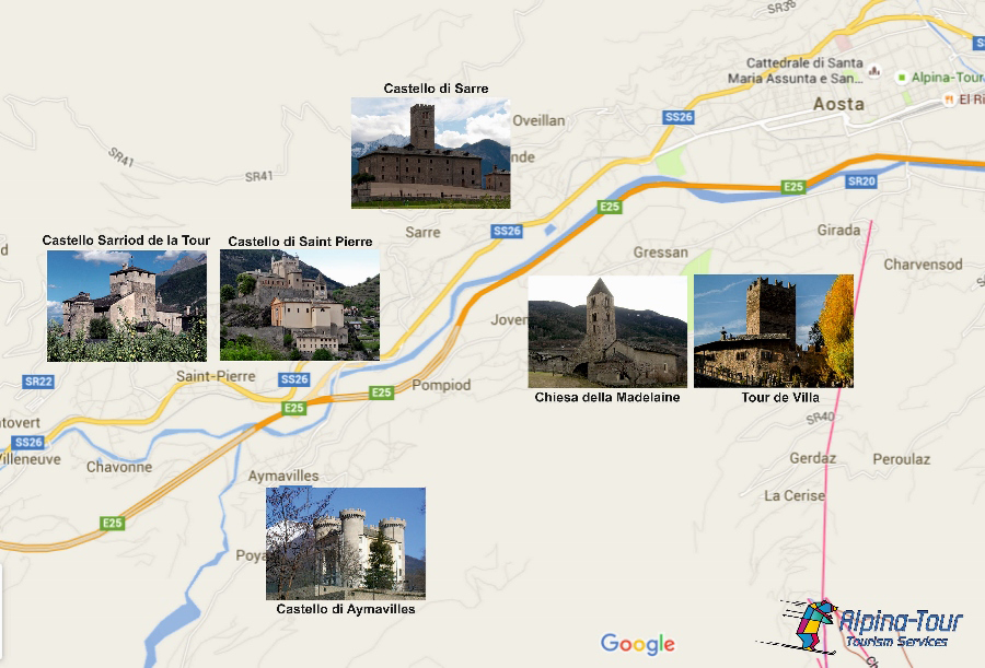 Tour of the medieval castles of Aosta Valley on electric bike with